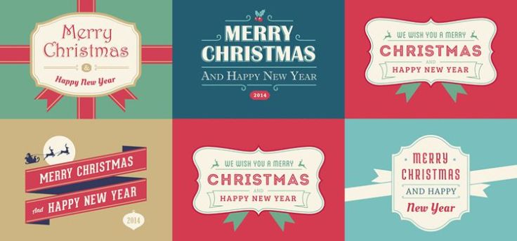 5 Christmas And New Year Cards free holidays