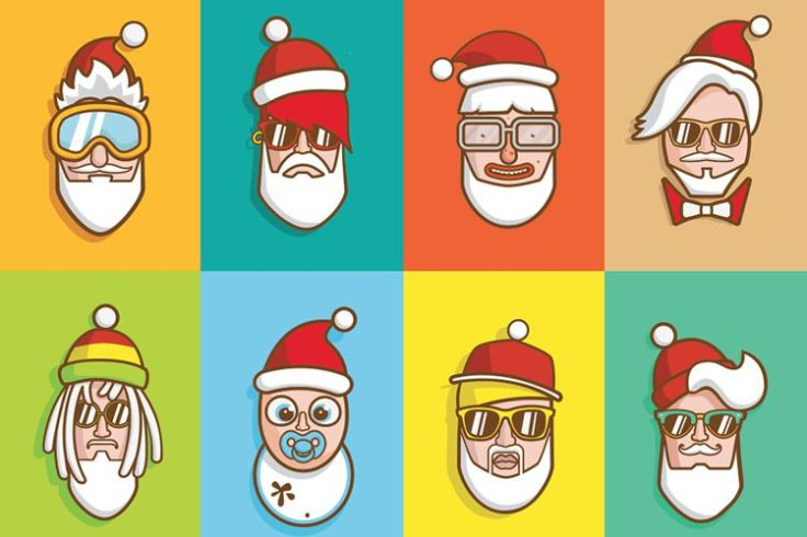 santa Claus with Swagg Illustrations free holidays