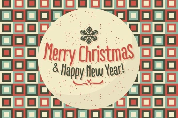 Merry Christmas Happy New Year Background Illustration free holidays