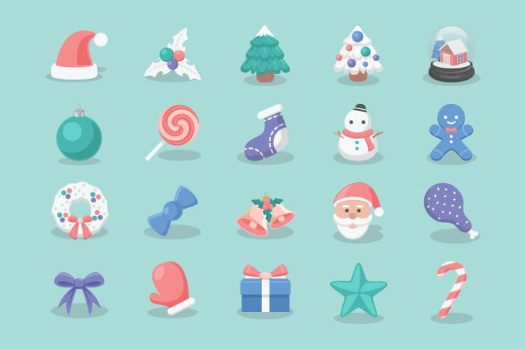 20 Free Christmas Icons free holidays