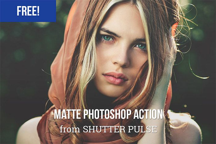 Free Matte Photoshop Action