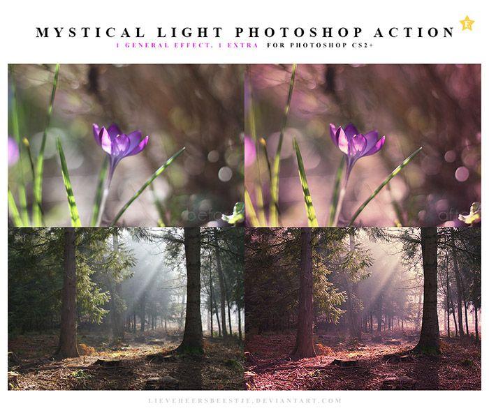 Mystical Light Photoshop Actions