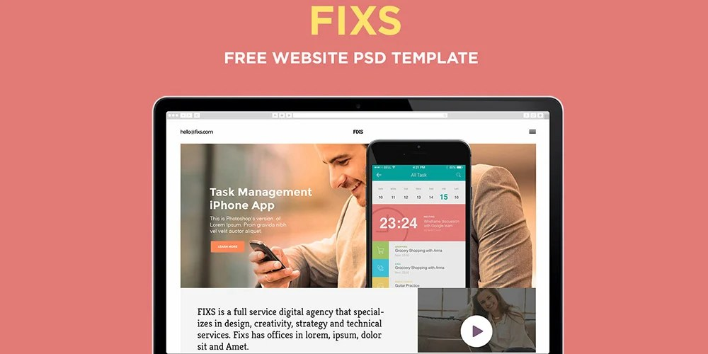 Best Free Single Page Website Templates PSD - Pixel2Pixel Design