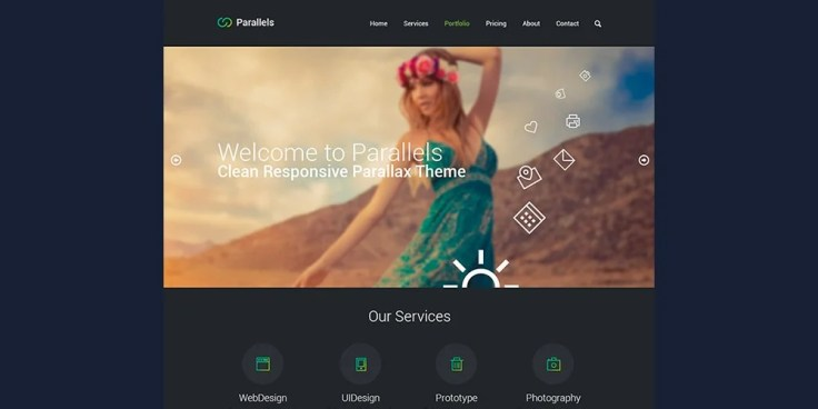 Free Responsive Template PSD
