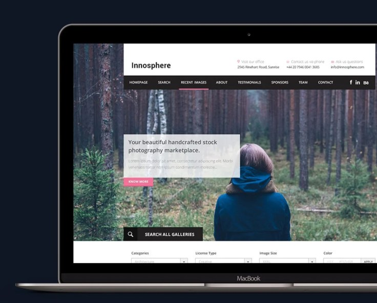 Innosphere - Free One Page Web Template PSD