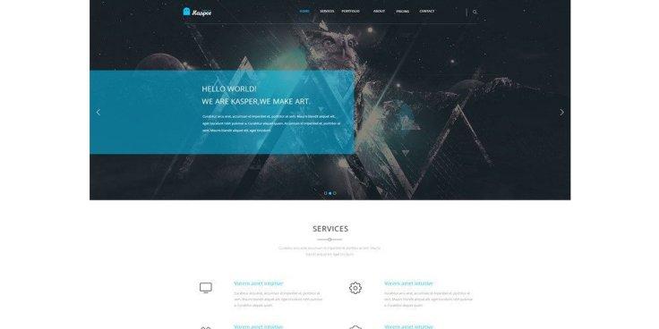 Kasper One Page Creative PSD Template