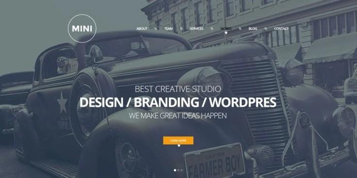 MINI One Page Creative Template Free PSD