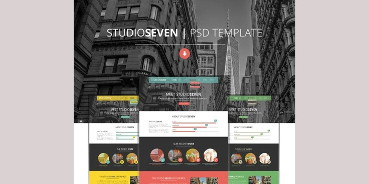 StudioSeven One Page PSD Template