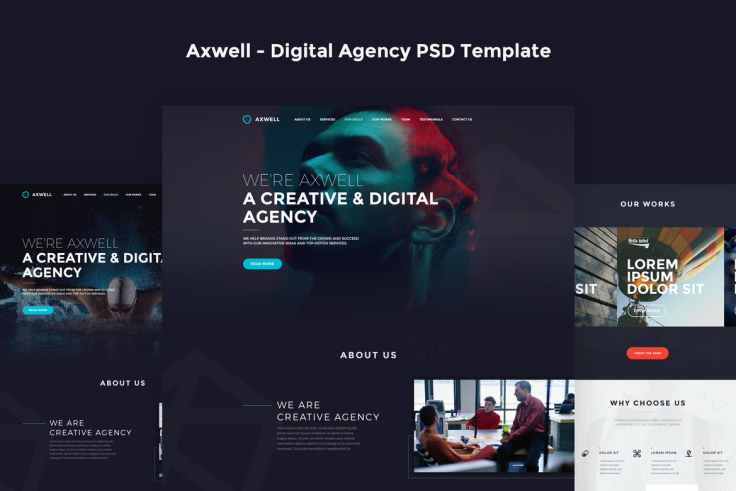 Axwell - Digital Agency PSD Template