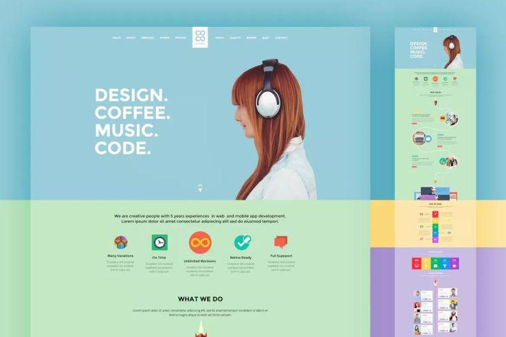 50 Free Responsive Web Design PSD Templates - Pixel2Pixel Design