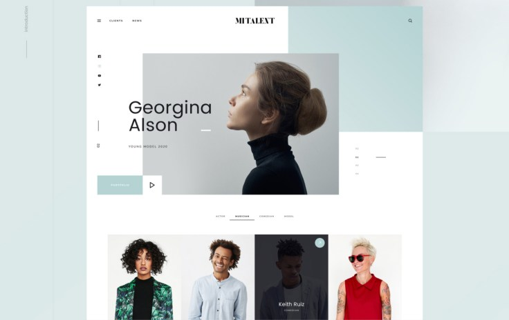 MI Talent – Web Design Agency PSD Template