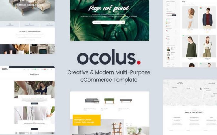 Ocolus – Multi-Purpose eCommerce Responsive Web Design PSD Template