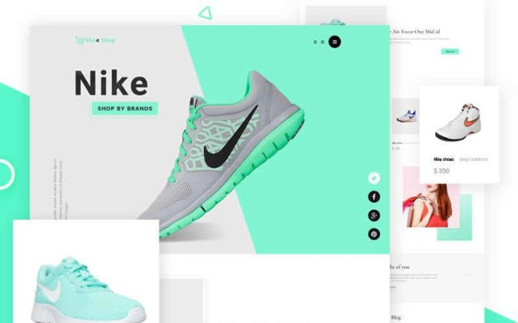 Sneakers Free eCommerce Responsive Web Design PSD Template