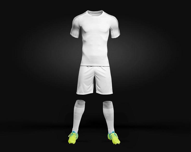 Free Soccer Kit Mockup PSD