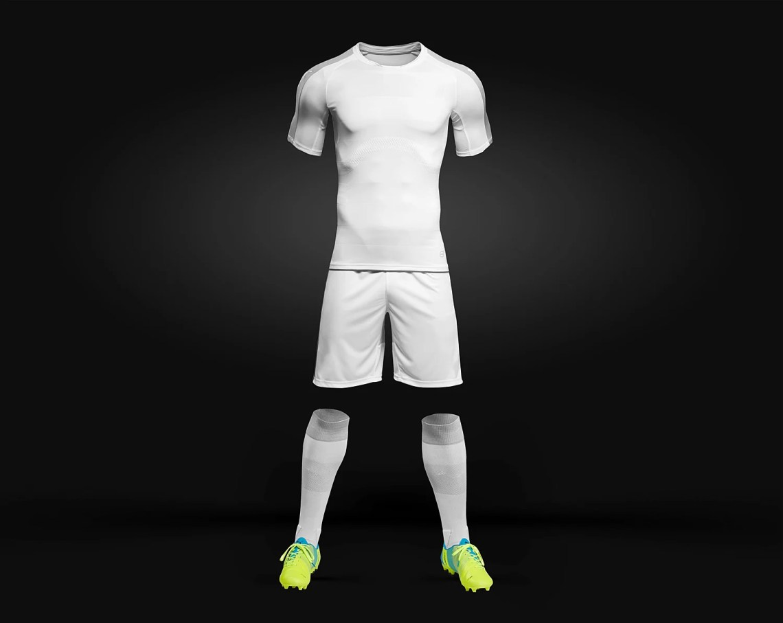 Download Men's Full Soccer Kit Mockup PSD ~ Design Bomb