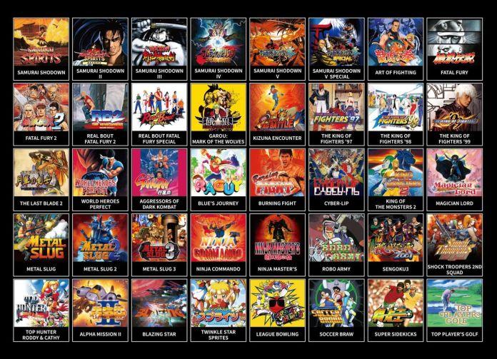 Neo Geo Mini Samurai Shodown - liste des jeux