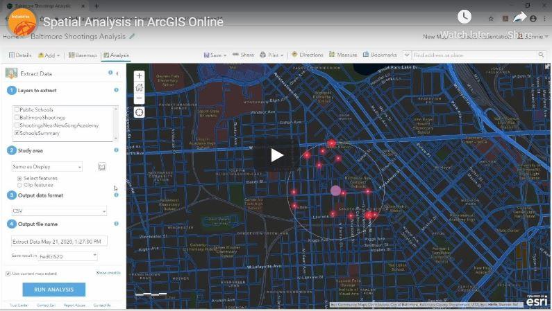 Video Tutorial: Spatial Analysis in ArcGIS Online