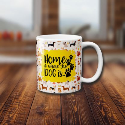 Home is where dog is Multicolor Front