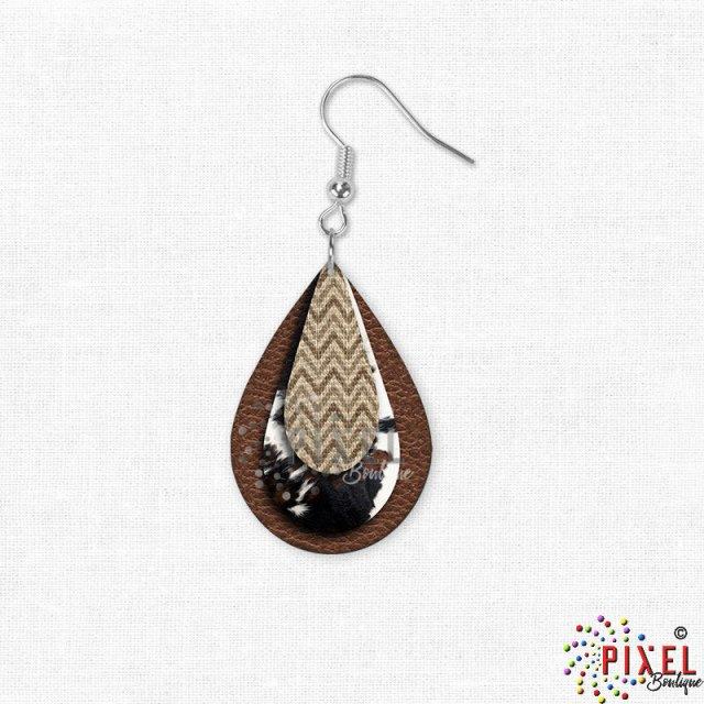 Small size Cowdrop earring