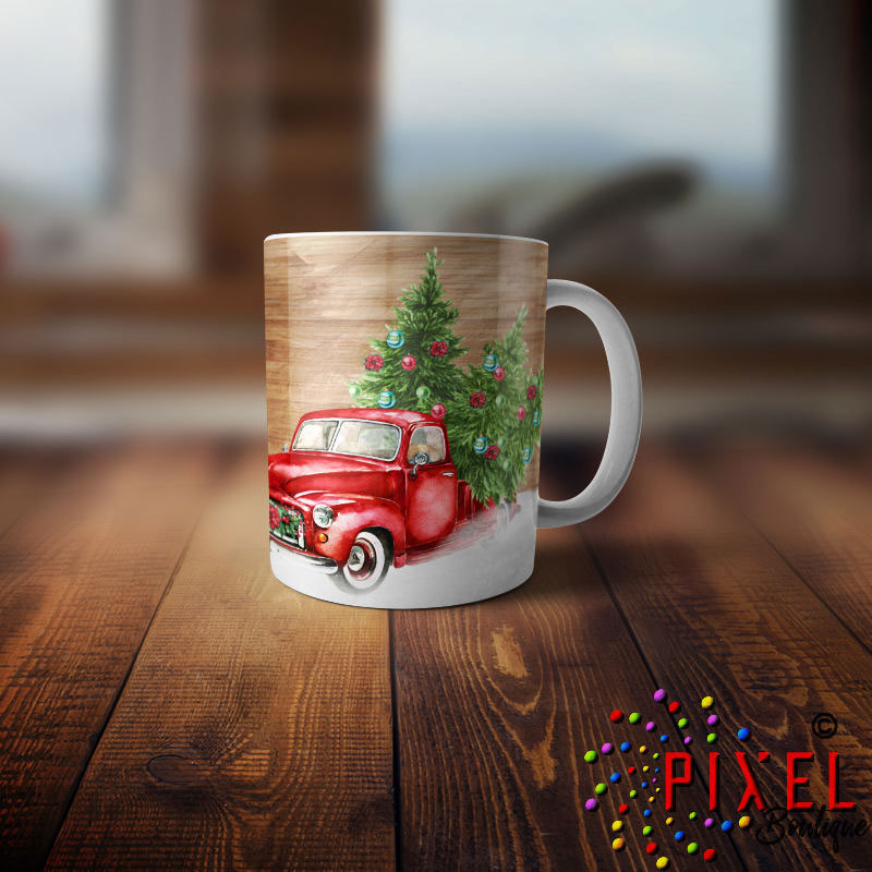 Red-truck-Single-Mug-Front-View