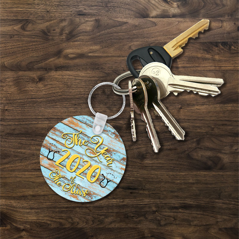 Year of Nurse Key Chain Front