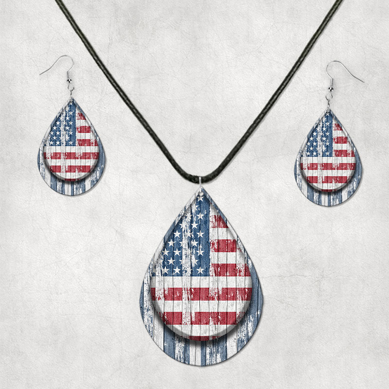Main Image for Flag Earring/Necklace SEt