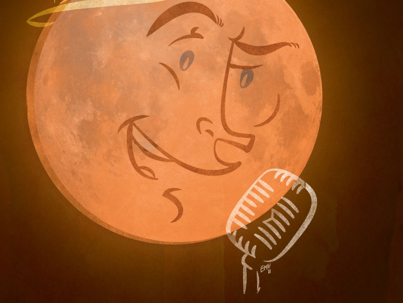 Singing Moon Calendar Illustration