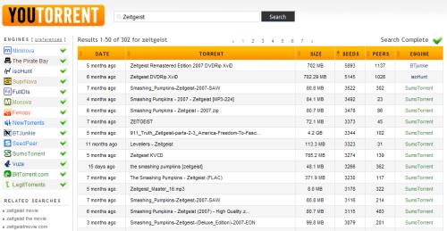 Captura de pantalla YouTorrent