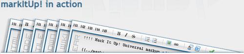 markitup captura de la ventana del editor