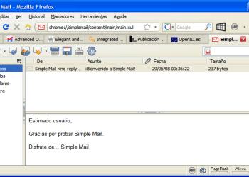 Simple Mail - Interfase | Captura de pantalla