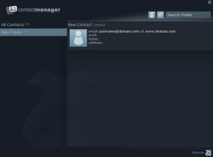 ContactManager - Interfaz   Aplicación demo que implementa una libreta de contactos