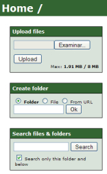 File Thingie - Interfaz