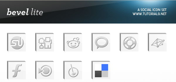 Bevel Lite Icons Set - Muestra