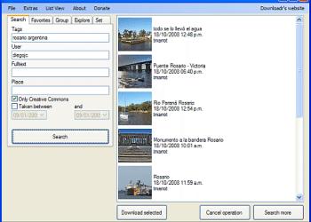 Downloadr - Interfaz