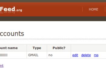 Mail2Feed - Configuración