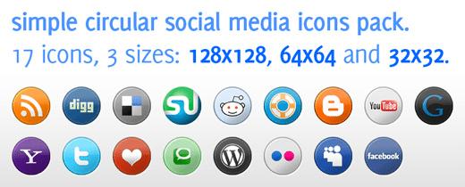Social Icons Media - Muestra