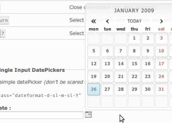 Date-picker no invasivo