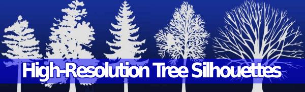 High-Resolution Tree Silhouettes – Recopilación de brushes de árboles