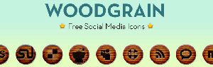 woodgrain-social-icon-set