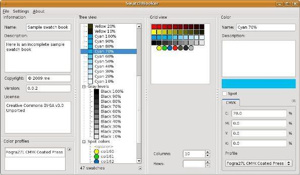 2 SwatchBooker paletas de color