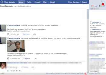 Adobe Facebook Photo Uploader - Interfaz