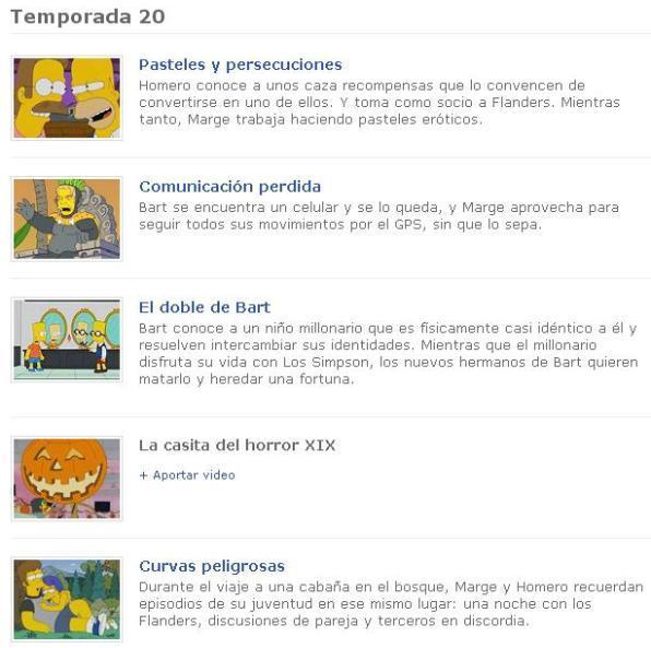 2 TV Simpson temporadas Los Simpsons