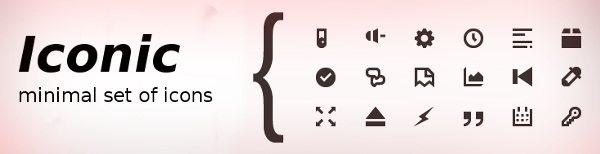 Iconic - Mnimal icons set