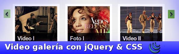 Video galeria con jQuery y CSS