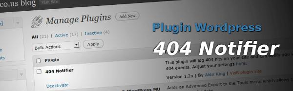 404 Notifier - Plugin WordPress para Error 404