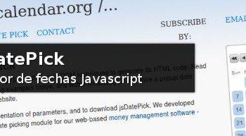 jsDatePick - Selector de fechas Javascript