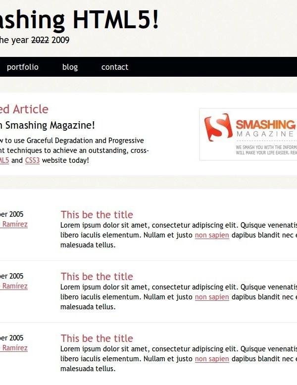 Smahing HTML5 - Template turorial
