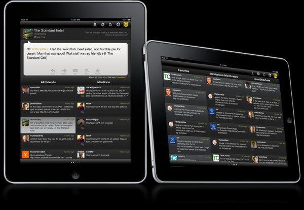 TweetDeck para iPad