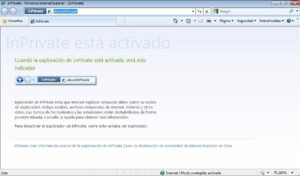 Internet Explorer - InPrivate mode