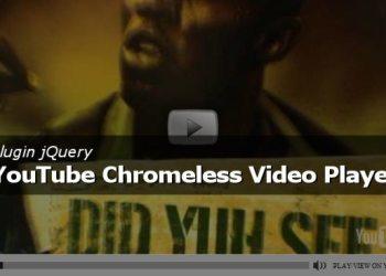 Plugin jQuery - YouTube Crhomeless Video Player